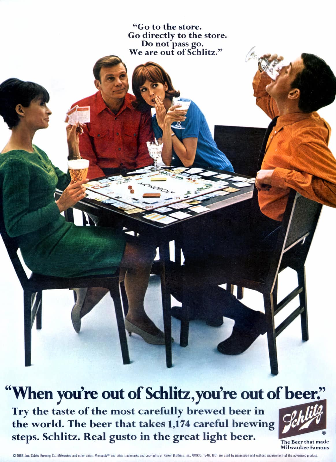 Out of Schlitz out of beer (1968)
