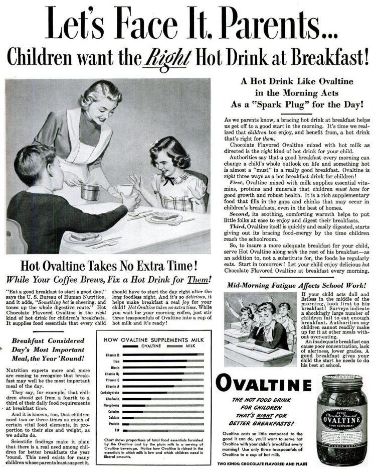 Ovaltine at breakfast (1951)