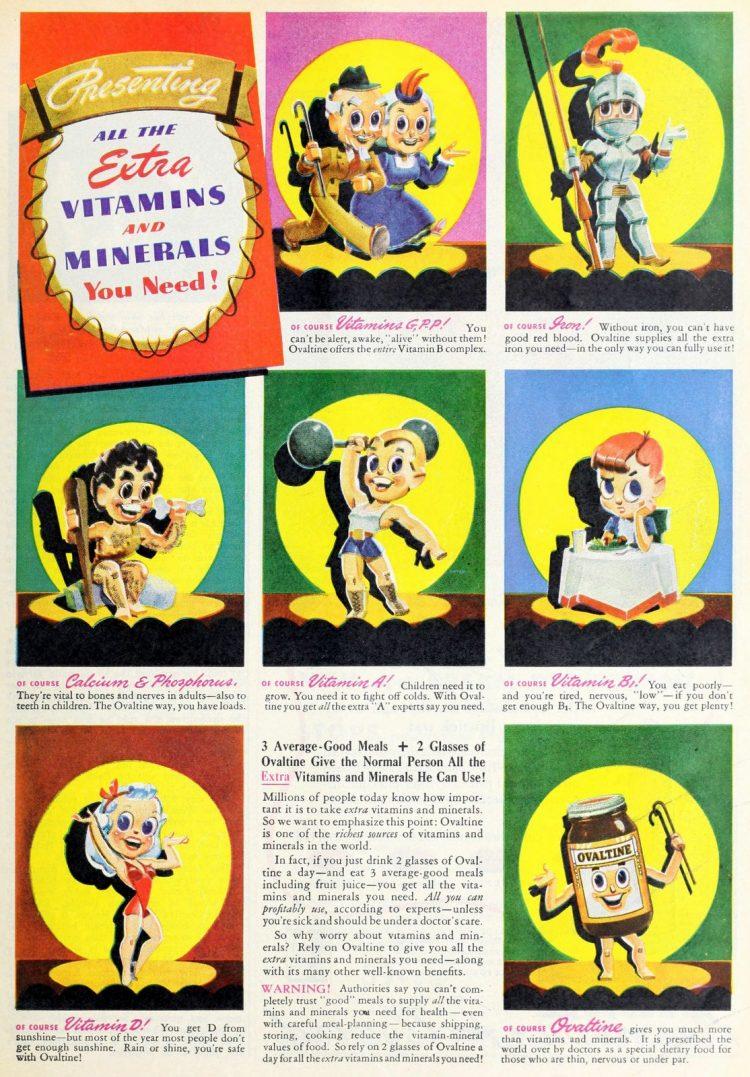 Ovaltine with vitamins (1943)