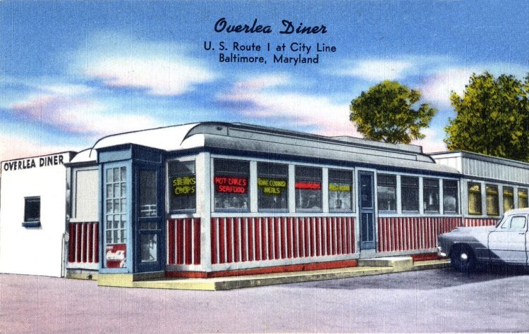 Overlea Diner, U. S. Route 1 at city line, Baltimore, Maryland