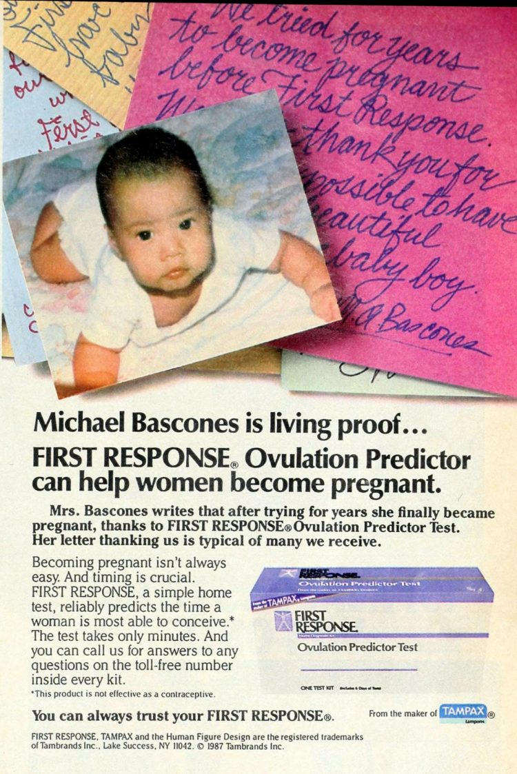 Ovulation predictor kits from 1987