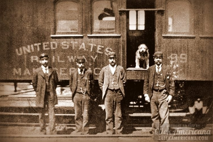 Owney on the train - Smithsonian's National Postal Museum