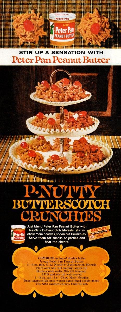 P-nutty butterscotch crunchies Classic cookie recipe