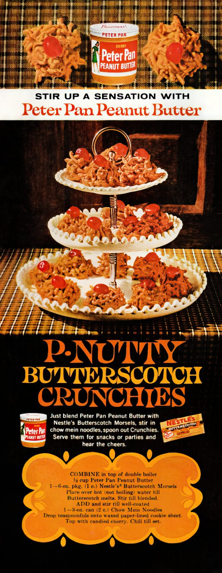 P-nutty butterscotch crunchies recipe from 1961