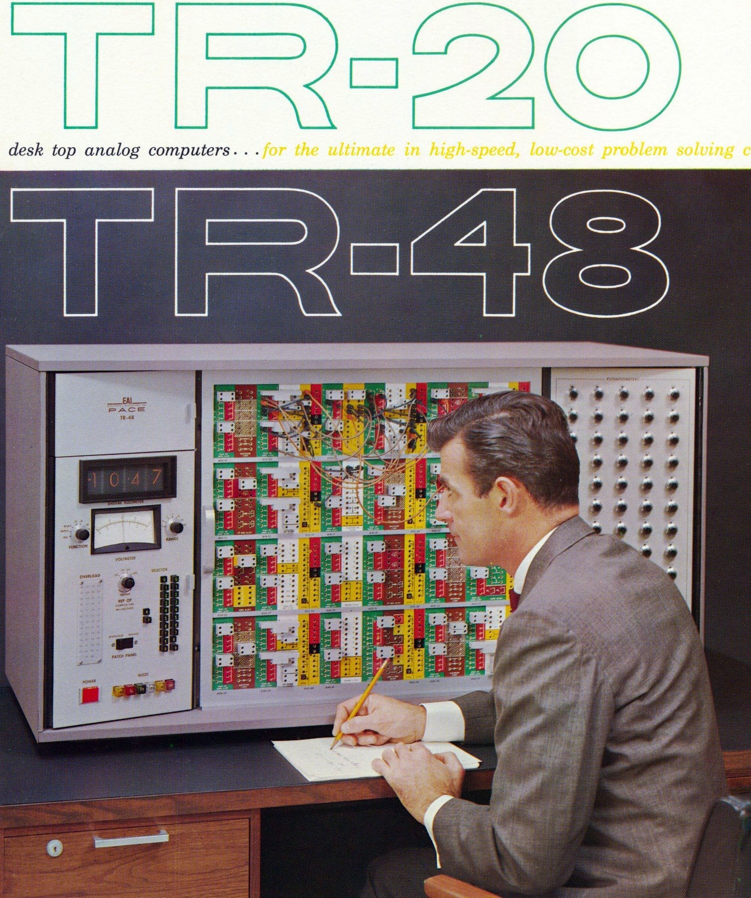 PACE TR-48 fully transistorized general-purpose analog computer (1961)