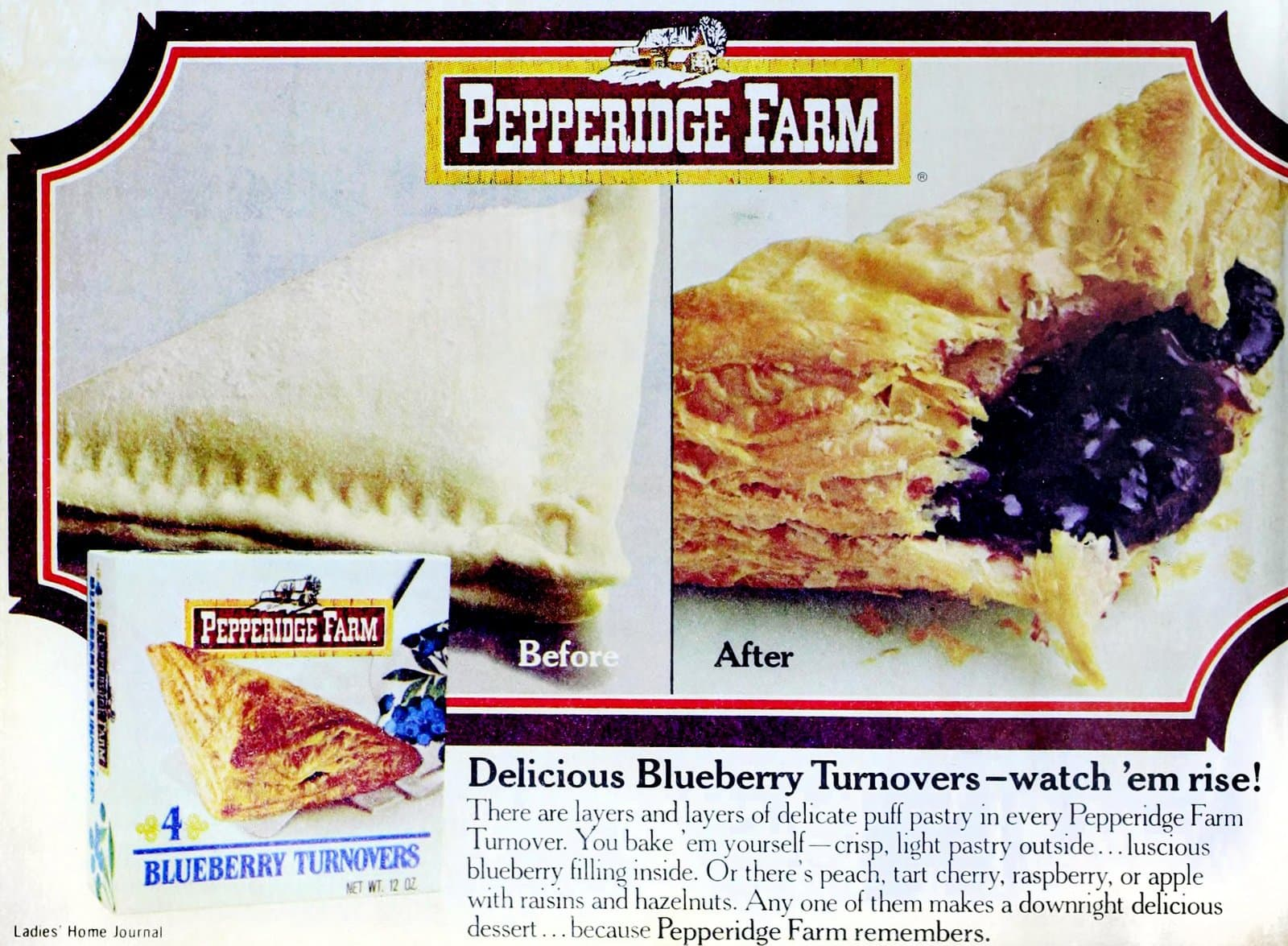 PF Blueberry turnovers before and after (1976)