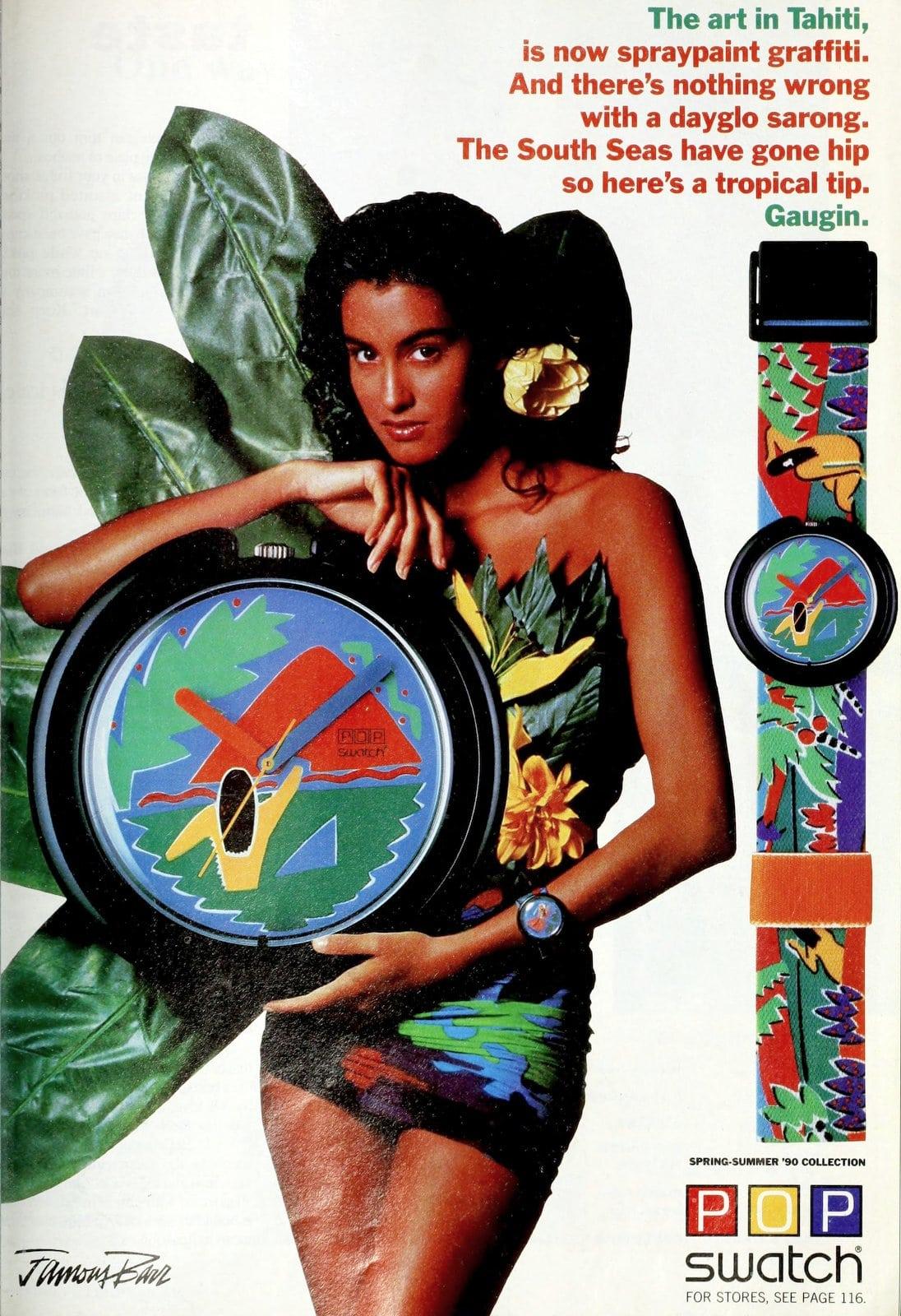 POP swatch - Gaugin pattern (1990)