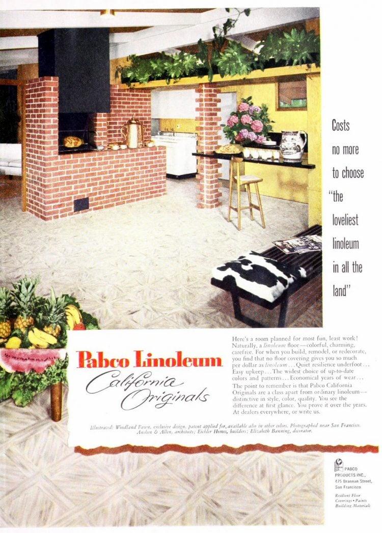 Pabco Linoleum floors from 1953