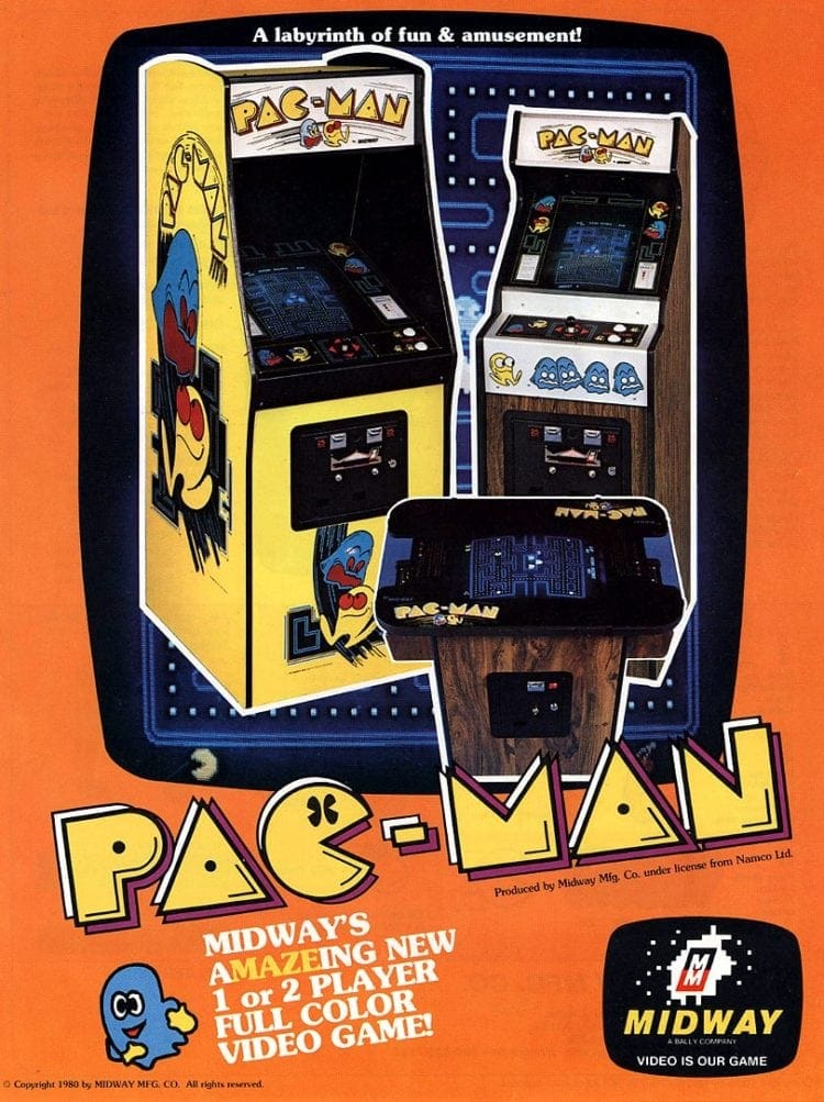 Pac-Man arcade video games from 1980
