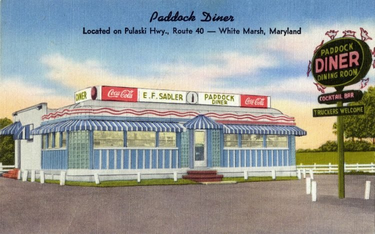 Paddock Diner in Maryland