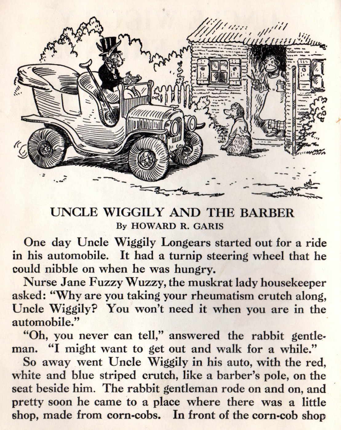 Pages from vintage Uncle Wiggily and His Friends book (2)