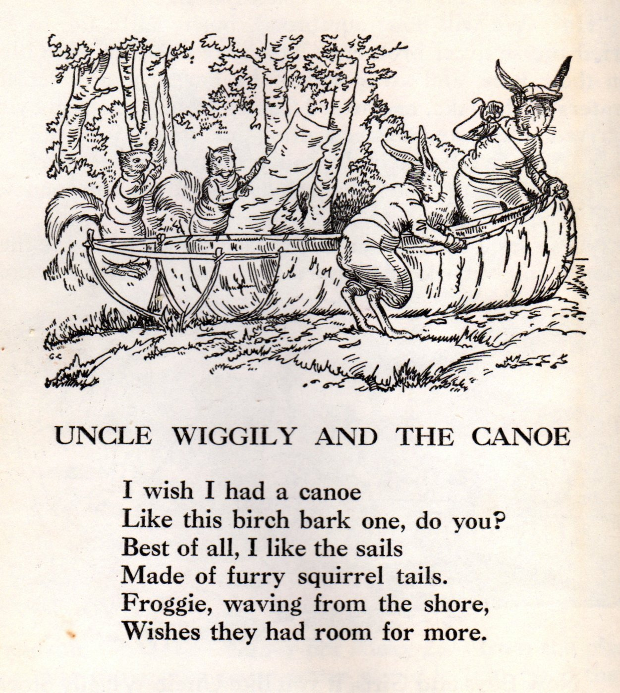 Pages from vintage Uncle Wiggily and His Friends book (4)