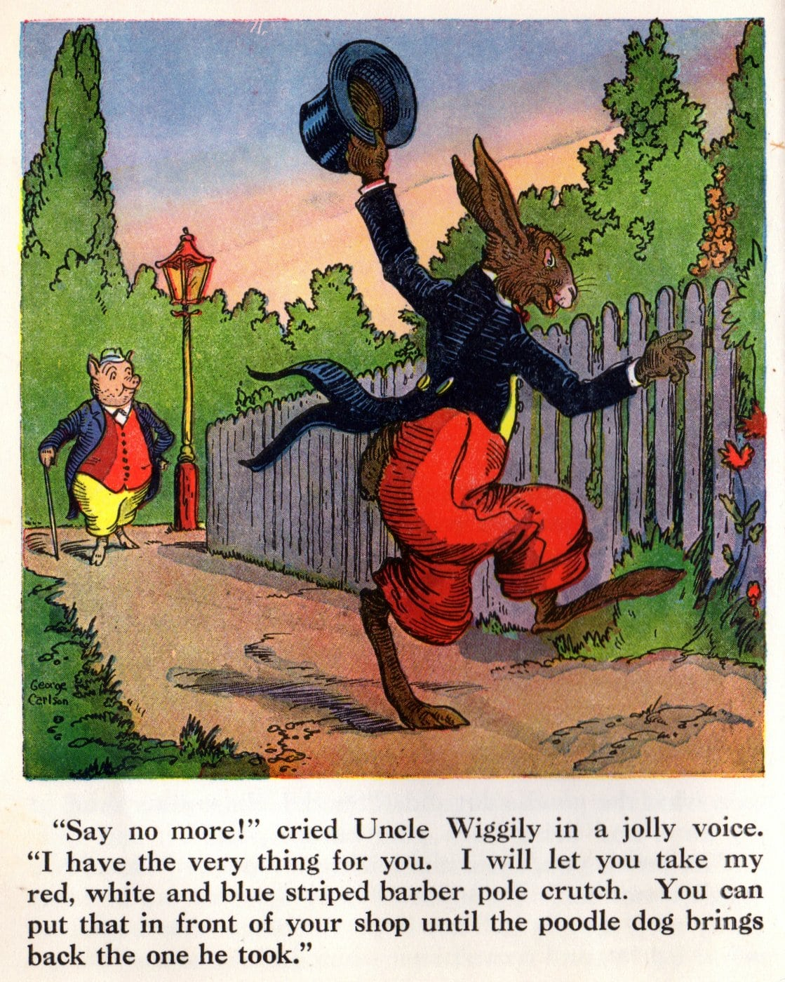Pages from vintage Uncle Wiggilyand His Friends book (9)