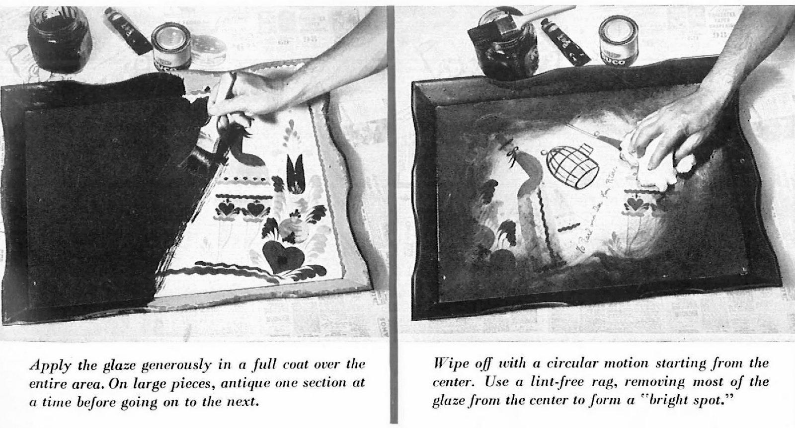 Paint antiquing technique how-to (2)