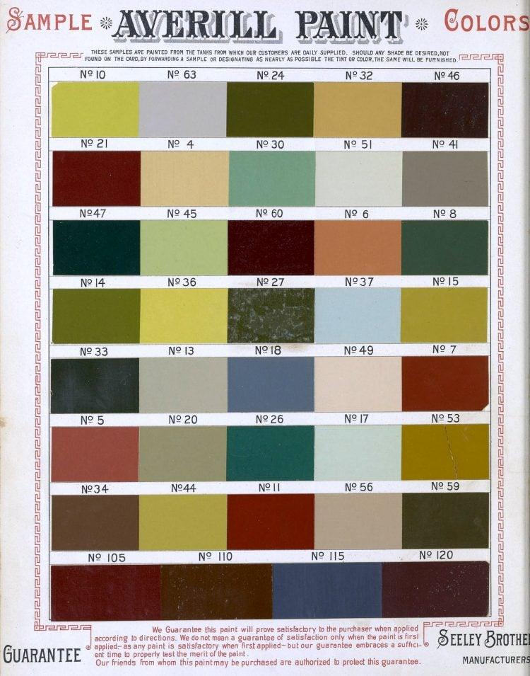 Paint samples 1886