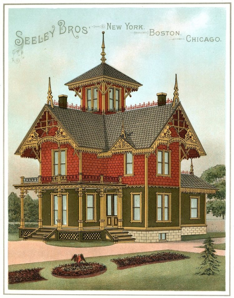 See Some Popular Exterior Color Schemes For 18 Victorian Houses 1886 Click Americana
