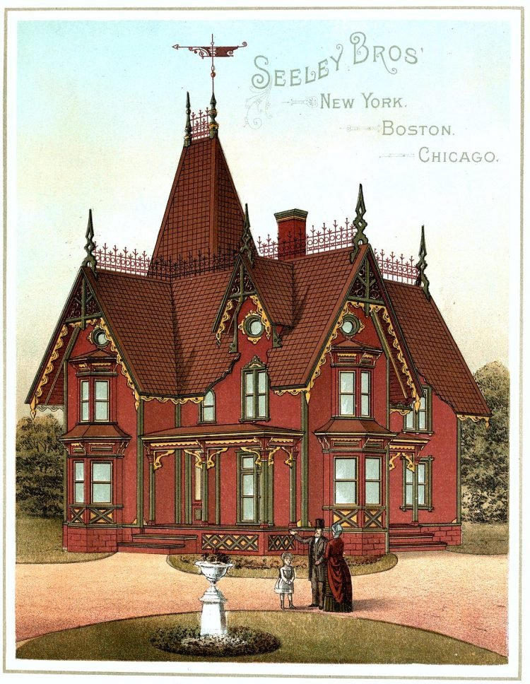 Painted Victorian homes from 1886 (8)