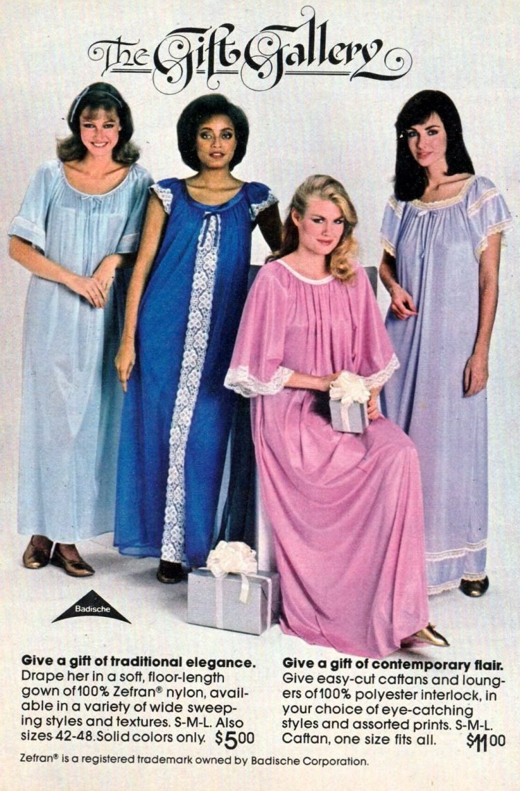 Pajamas and vintage sleepwear from 1981 (2)