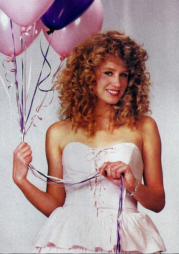 Pale pink prom dress from 1987