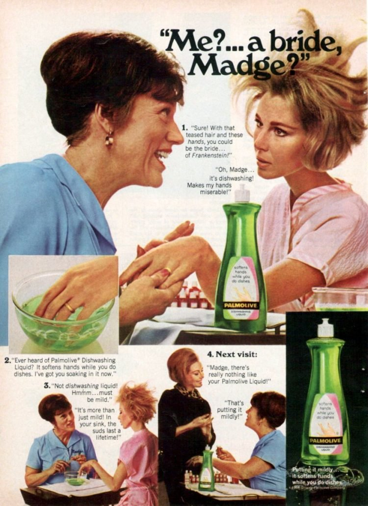 Palmolive detergent with Madge 1968