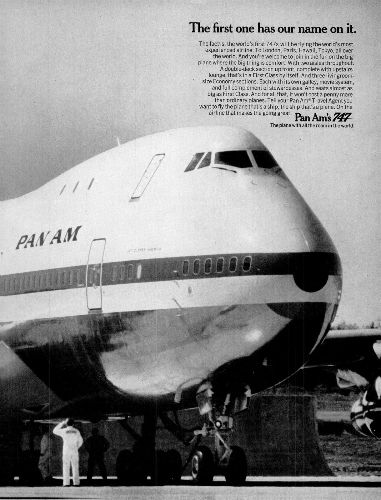 Pan Am 747 plane (1970)