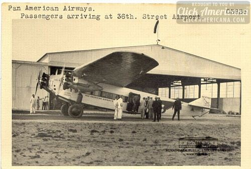 Pan Am Fokker Tri-Motor, 36th St. Depot. 1928