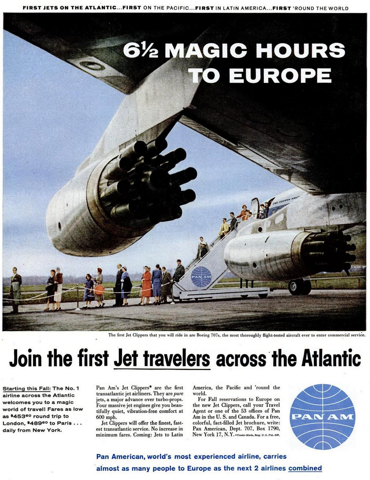 Pan Am - Jet travelers across the Atlantic (1958)