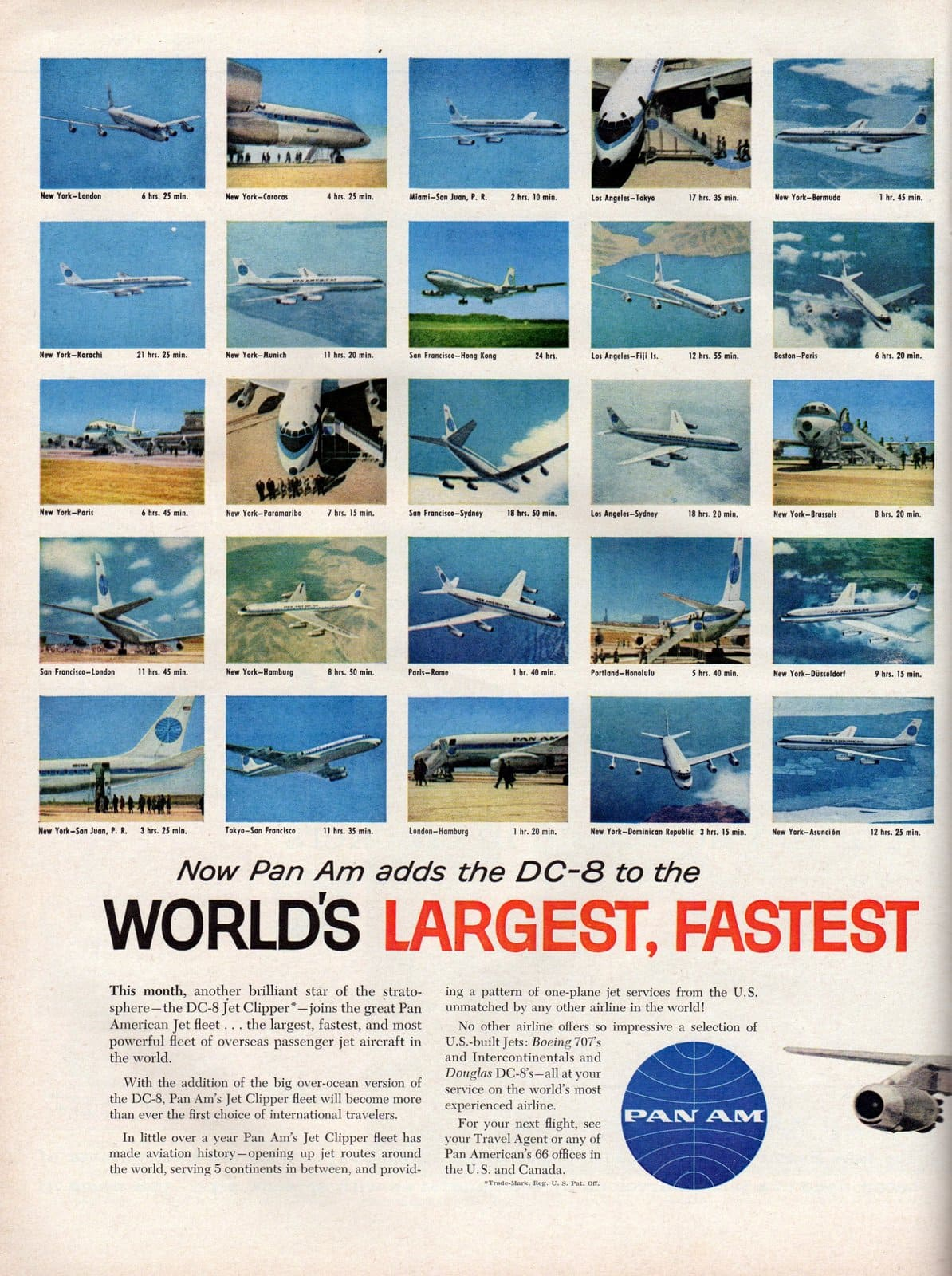 Pan Am adds DC-8 to their over-ocean jet fleet 1960 (1)