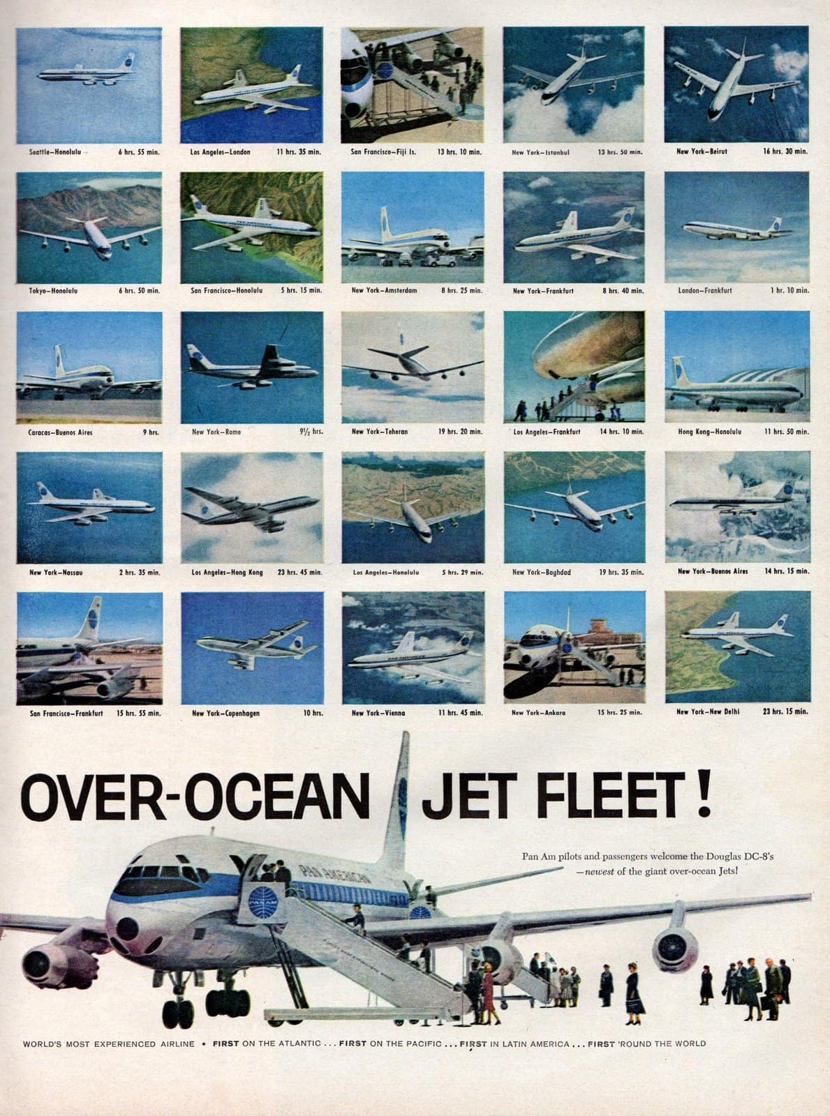 Pan Am adds DC-8 to their over-ocean jet fleet 1960 (2)