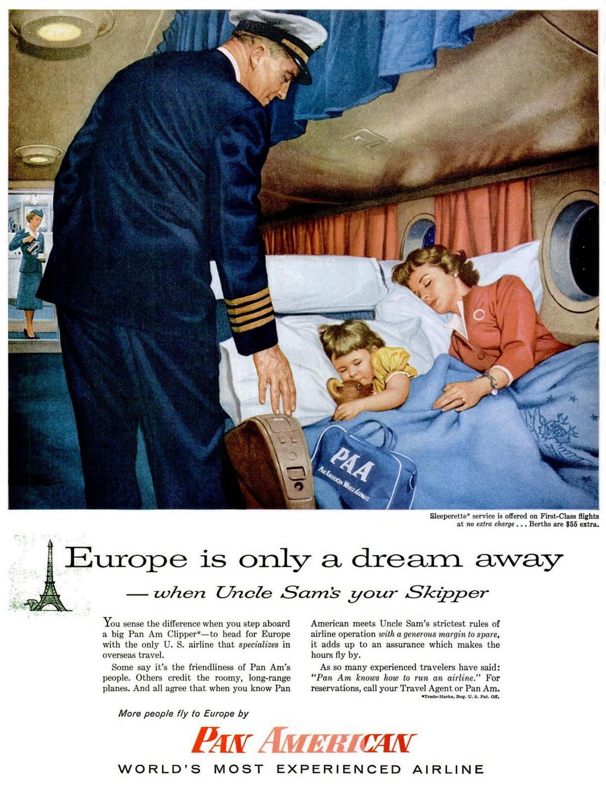 Pan Am airlines - Europe only a dream away (1956)