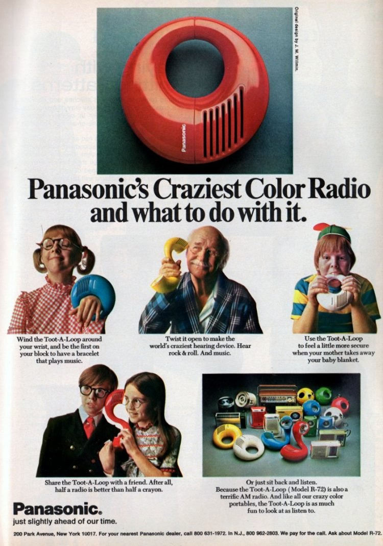 Panasonic's craziest color radio & what to do with it 1972