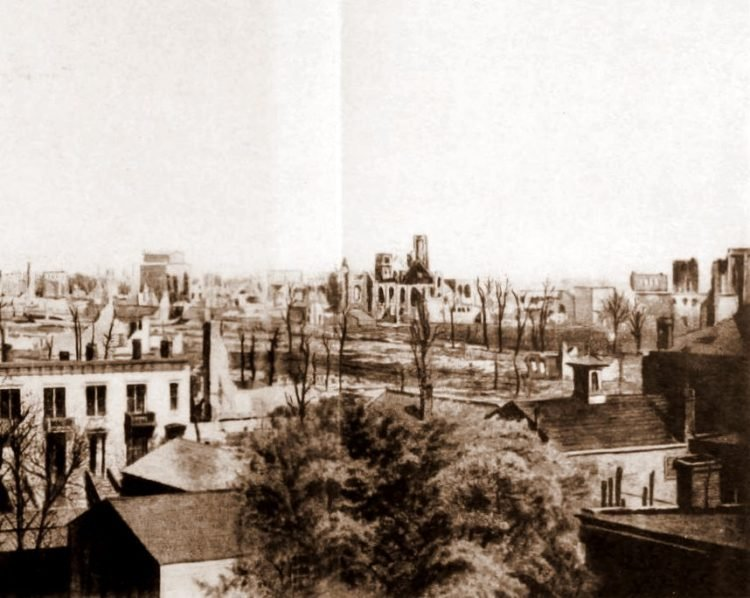Panorama frame 3 from after the Great Chicago Fire in 1871 (1)