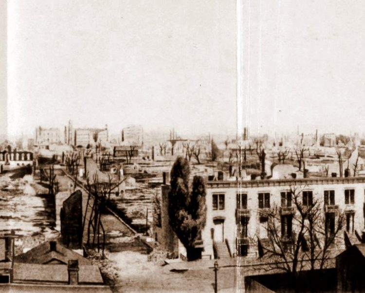 Panorama frame 3 from after the Great Chicago Fire in 1871 (143)