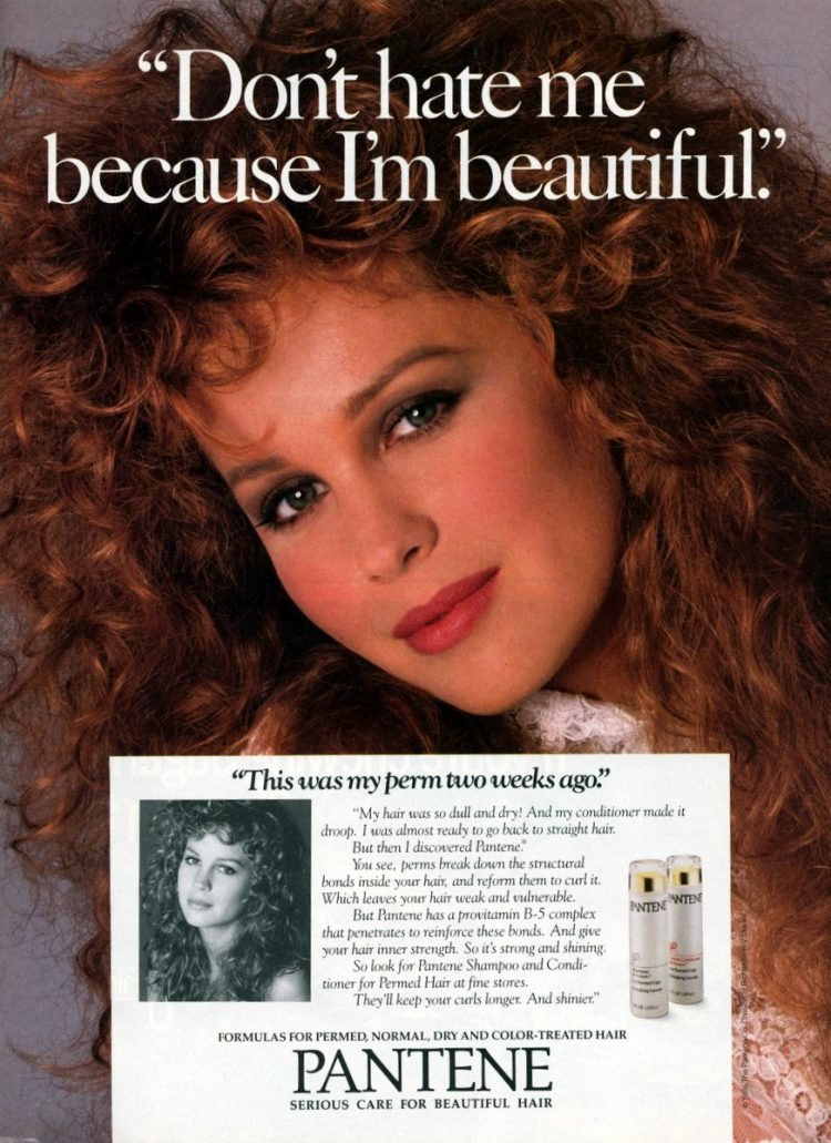 Pantene Shampoo and Conditioner for Permed Hair 1987