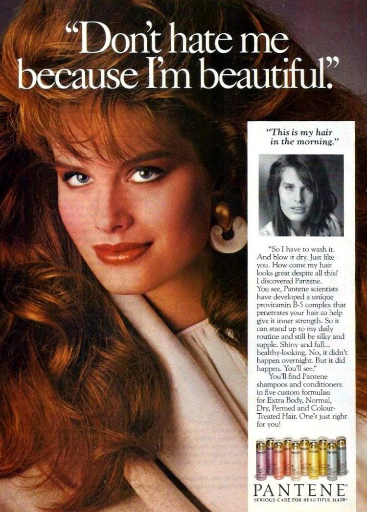 Pantene shampoo beautiful 1987