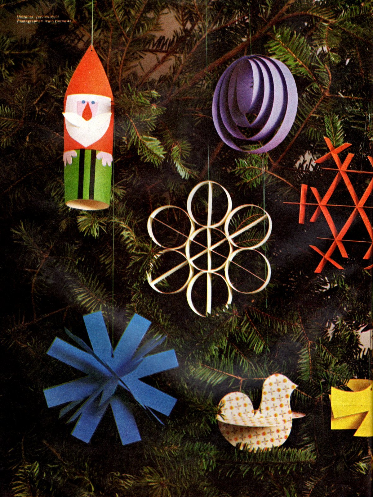 Paper Christmas ornament - Vintage craft how-to (1)