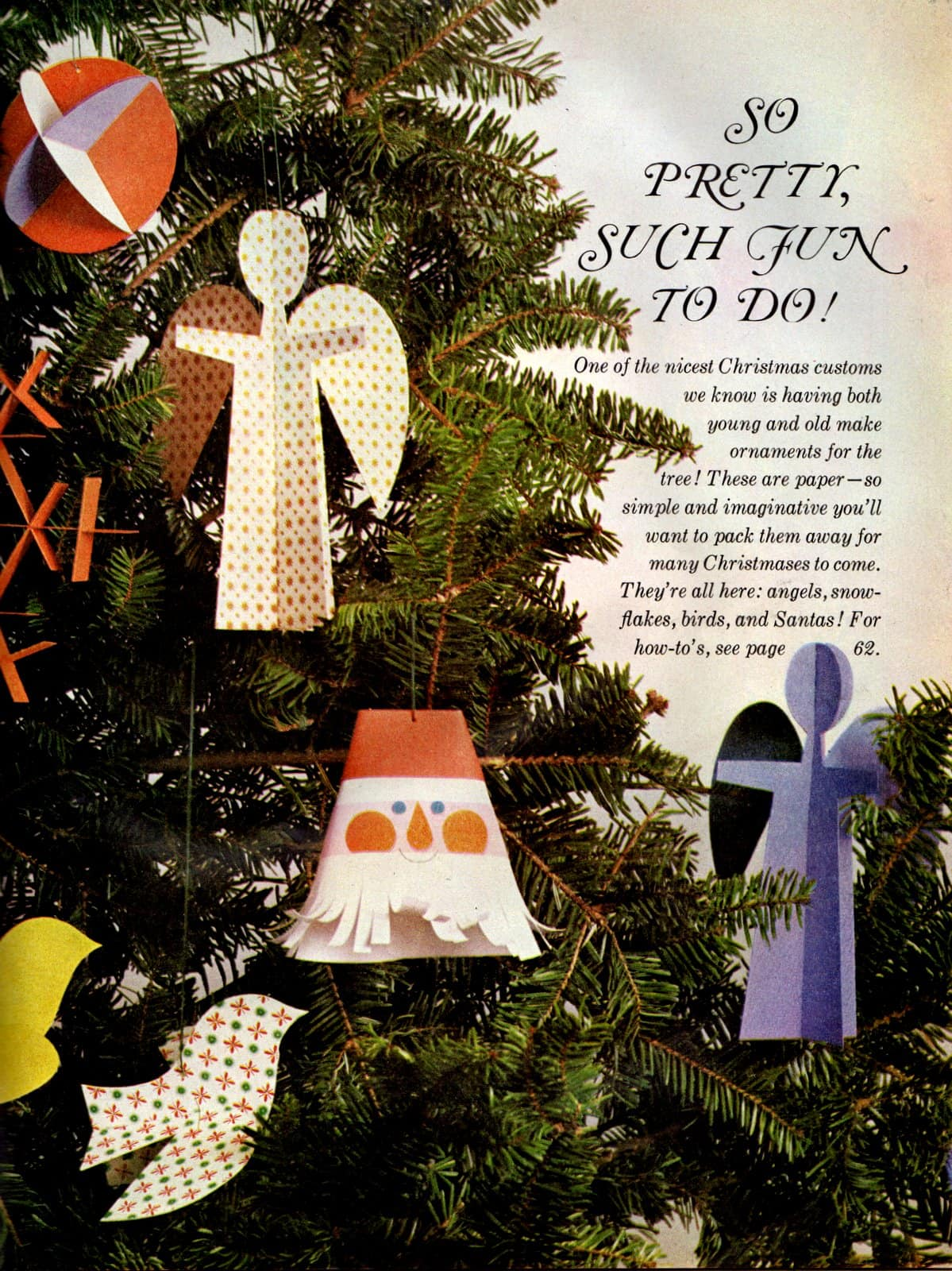 Paper Christmas ornament - Vintage craft how-to (2)