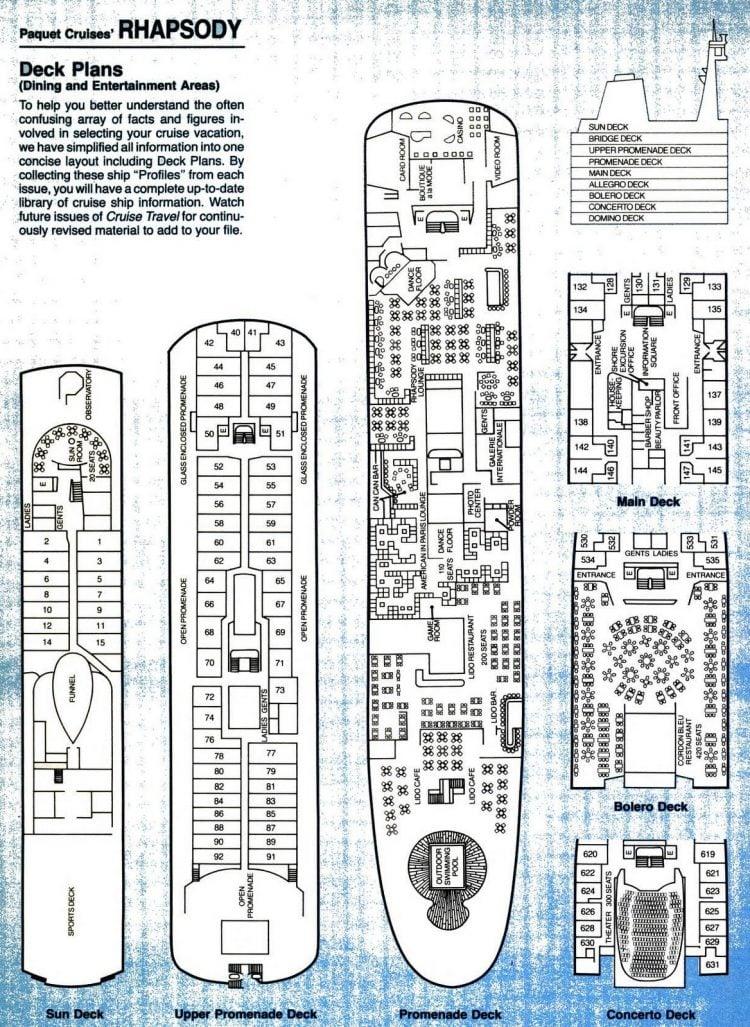 Paquet - Rhapsody cruise deck plan plan