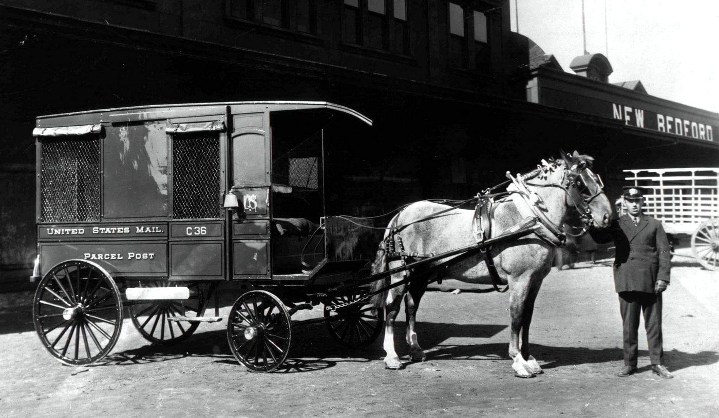 Parcel Post Wagon in New Bedford, Massachusetts (1913)
