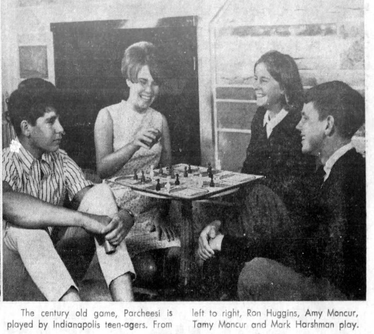 Parcheesi family party from 1967