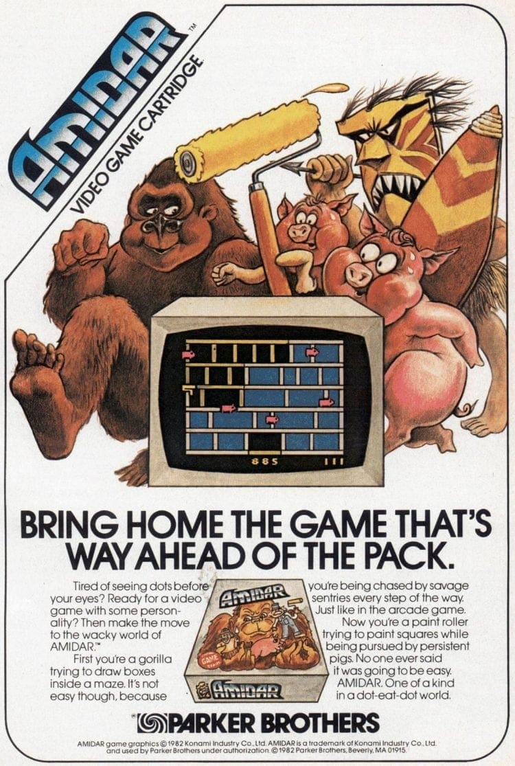Parker Brothers 1982 amidar video game