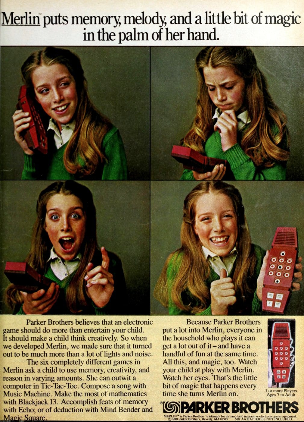 Parker Brothers Merlin electronic game toy(1980)