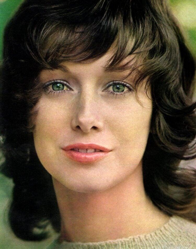 Pastel retro eye makeup from 1970