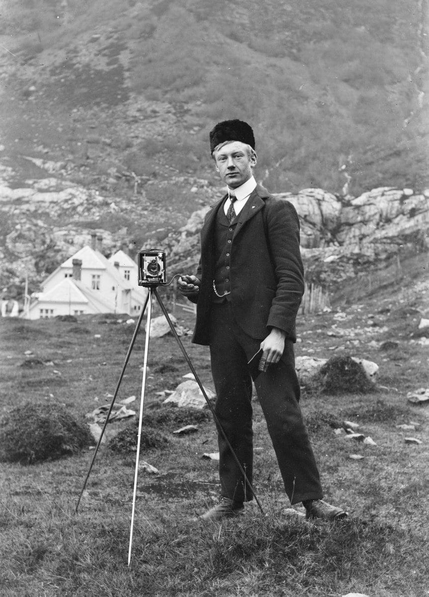 Paul Stang - Self-portrait in Norway (c1910) at ClickAmericana_com