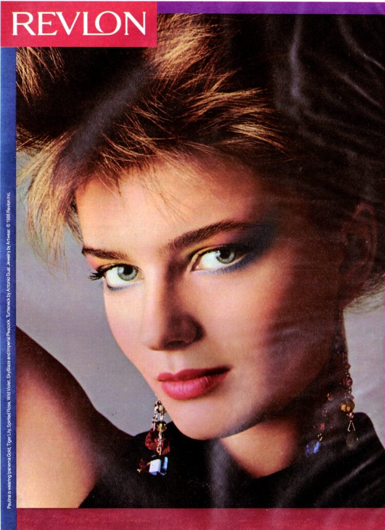 Paulina Porizkova for Revlon - '80s eye makeup tips