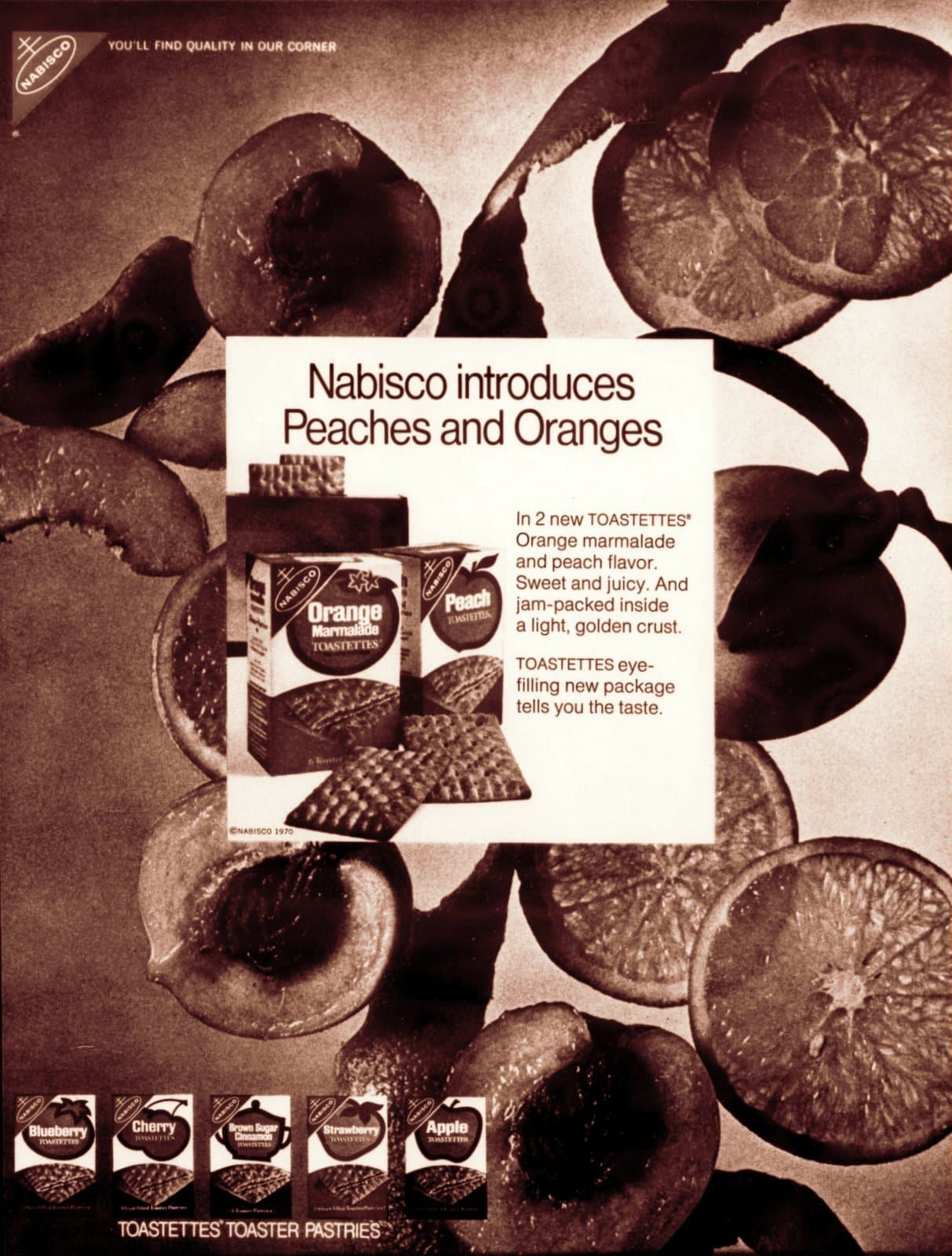 Peach and orange Toastettes (1970)