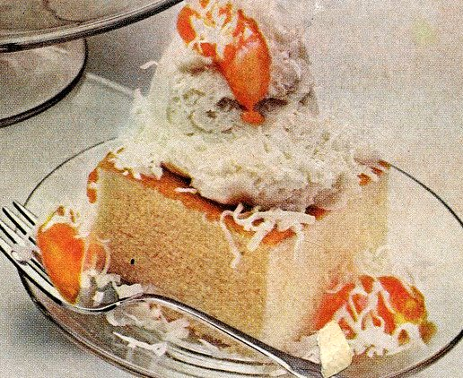 Peach snowball cake recipe