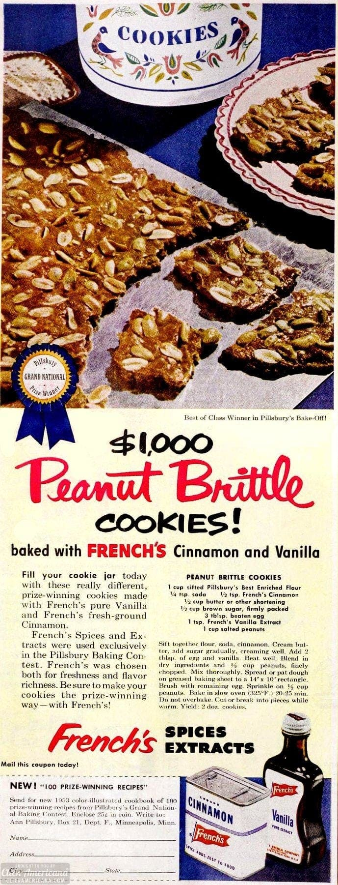 Peanut brittle cookies recipe
