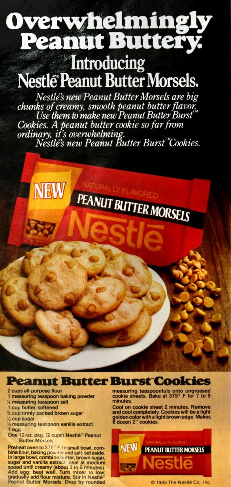 Peanut butter burst cookies