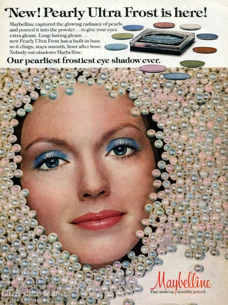 Pearly ultra frost blue eyeshadow (May 1976)